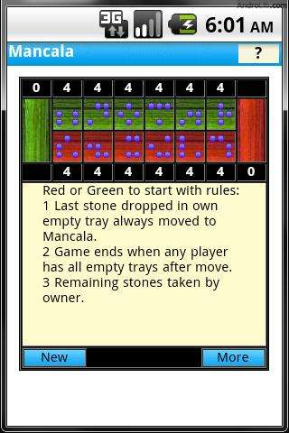 Mancala game rules and directions